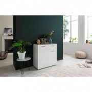 Terre de Nuit Commode 2 portes 1 tiroir en bois blanc - CO7067
