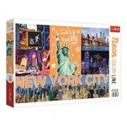 Puzzle Trefl New York neon, 1000 piese
