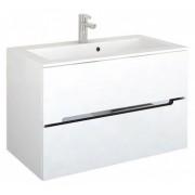 Set PROMO mobilier cu lavoar Oristo Silver 90 x 45 x 55 cm alb lucios -OR33-SD-90-1+ORSUM900SILVER