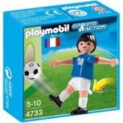 Комплект Плеймобил 4733 - Фуболист Франция бял, Playmobil, 290734