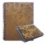 Set agenda si carnetel din lemn colectia Trandafiri in cutie cadou