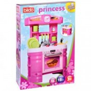 Bucatarie mare copii Princess Bildo accesorii vase roz