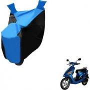 Intenzo Premium Blue and Black Two Wheeler Cover for Yo Bike Yo EXL
