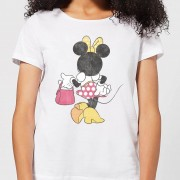 Mickey Mouse Disney Mickey Mouse Minnie Mouse Back Pose Women's T-Shirt - White - M - White