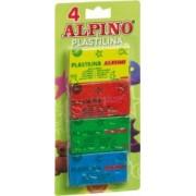 Plastilina 4 culori/set ALPINO