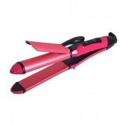 InnobaBrite NHC-2009 Pink Color Hair Straight Curl Iron In Best Price