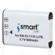 Ismartdigi EN-EL11 LI-60B reemplazo 3.7V 680mAh bateria de li-ion para nikon coolpix S5 + mas - blanco