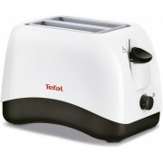 Тостер, Tefal, 800W, 2-hole, 7-stage thermostat, stop function, defrosting, reheating, White (TT130130)