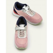 Mini Kirschblütenrosa/Bunt Turnschuhe aus Veloursleder Mädchen Boden, 37, Pink