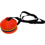 GSI Mini Saucer cones for Field agility training and speed coordination Pack of 20 with Shoulder Strap