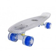 Penny board Mad Cruiser Full LED ABEC 7-alb