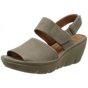 8abf9d869b6 Clarks Women s Clarene Allure Sage Nubuck Grey Leather Fashion Sandals - 5  UK India (