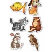 Set 6 puzzle-uri cu animale