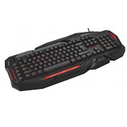 Trust GXT 285 Adjustable LED RGP Backlit Wired Gaming Keyboard, Programmable Keys, Black