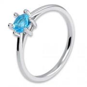 Brilio Silver Stříbrný prsten s krystalem 426 158 00102 04 - BLUE 57 mm