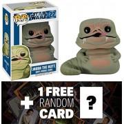 Jabba The Hutt: Funko Pop! Star Wars Vinyl Bobble Head Figure + 1 Free Official Star Wars Trading Card Bundle [25940]