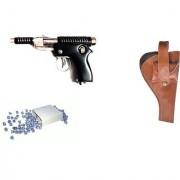 B J Toys Air Gun Bt-007 Model With Metal Body For Target Practice 300 Pellets With Cover Air Gun