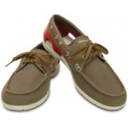 Crocs Beach Line Lace-up Boat M Boat Shoes For Men(Brown)