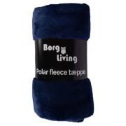 Borg Design Coral fleecefilt - Blå - 200x150cm