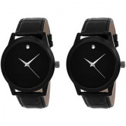 R P S fashion new black to black men combo pack of 3 watch 6 month warranty