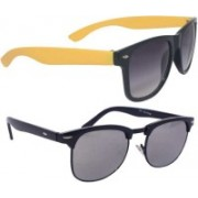 Devew Clubmaster Sunglasses(Black, Grey)