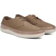 Clarks Veho Flow Tan Leather Casual Shoes For Men(Brown)