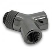 Fiting adaptor rotativ EK Water Blocks EK-AF Y-Splitter Rotary 2F-1M G1/4 - Black Nickel