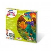 Gyurma készlet, 4x42 g, égethető, FIMO Kids Form & Play, dínók