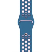 Curea Sport Perforata, compatibila Apple Watch 1/2/3/4, Silicon, 42mm/44mm, Turcoaz / Roz