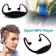 Premium Quality Sports MP3 neckband player wired headphone (Use only by memory cards)