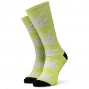 Чорапи дълги дамски HUF - Plantlife Metallic Leaves Sock SK00447 r.OS Hot Lime