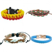 Alpha Man Creativity with an Imagination Works Together Combo Of 4 Bracelet For Mens