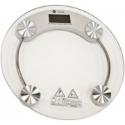 Granny Smith Personal Health Human Body Weight Machine X2003A Round Transparent Glass Weighing Scale(White)