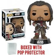 Funko Pop! Star Wars: Rogue One - Baze Malbus #141 Vinyl Figure (Bundled with Pop Box Protector Case)