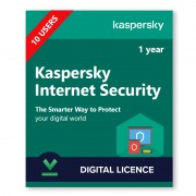 Kaspersky Internet Security (KIS) 10 Device | 1 Year - Digital Licence - 10 / 1
