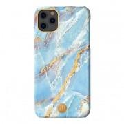 Husa iPhone 11 Kingxbar Marble Series Design Marmura Placa metalica Albastru