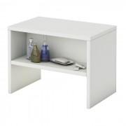 IDIMEX Table de chevet DION, en mélaminé blanc mat