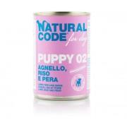 Natural line Natural Code Dog Patè Puppy 02 Agnello Riso e Pera 400g