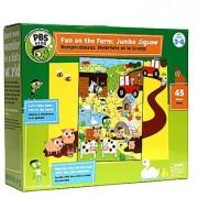 PBS Kids Fun on The Farm Jumbo Jigsaw Puzzle 45 Piece