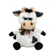 "Puzzled Sitting Cow Super Soft Stuffed Plush Cuddly Animal Toy - Animals Collection - 7"" INCH - Unique huggable loveable New friend Gift - Item #5020"
