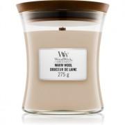 Woodwick Warm Wool lumânare parfumată cu fitil din lemn 275 g