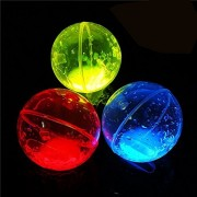 NICE GLOW Glow Bounce Kids Light Up Toy Balls Glowing In the Dark High Bouncing Balls 2.5 Inch Radom Color Parties Supplies