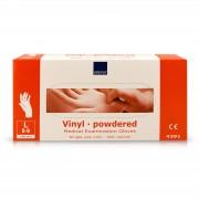 Abena - Vinyl Handschoenen - Wit - Gepoederd - Maat L - 100 Stuks