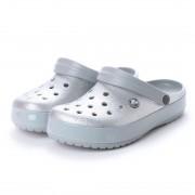 【SALE 30%OFF】クロックス crocs クロッグサンダル Crocband Glitter Clog 205419-040 (シルバー) ミフト mift レディース メンズ