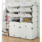 House of Quirk Multi Use DIY PP (Polypropylene) Collapsible Wardrobe (Finish Color - White)