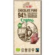 Ciocolata Neagra cu 94% Cacao Bio si Fairtrade 100gr Sole