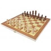 Joc de Sah din Lemn cu incuietoare pentru stocarea pieselor, dimensiuni tabla 34x34cm