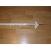 Paliki z tworzywa - wysokość 154 cm - biały