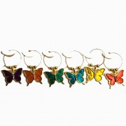 "Wine Charms - ""Butterflies"""