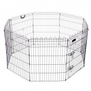 bitiba Parque octogonal negro para roedores - Tamaño M: 8 piezas de 57 x 61 cm (An x Al)